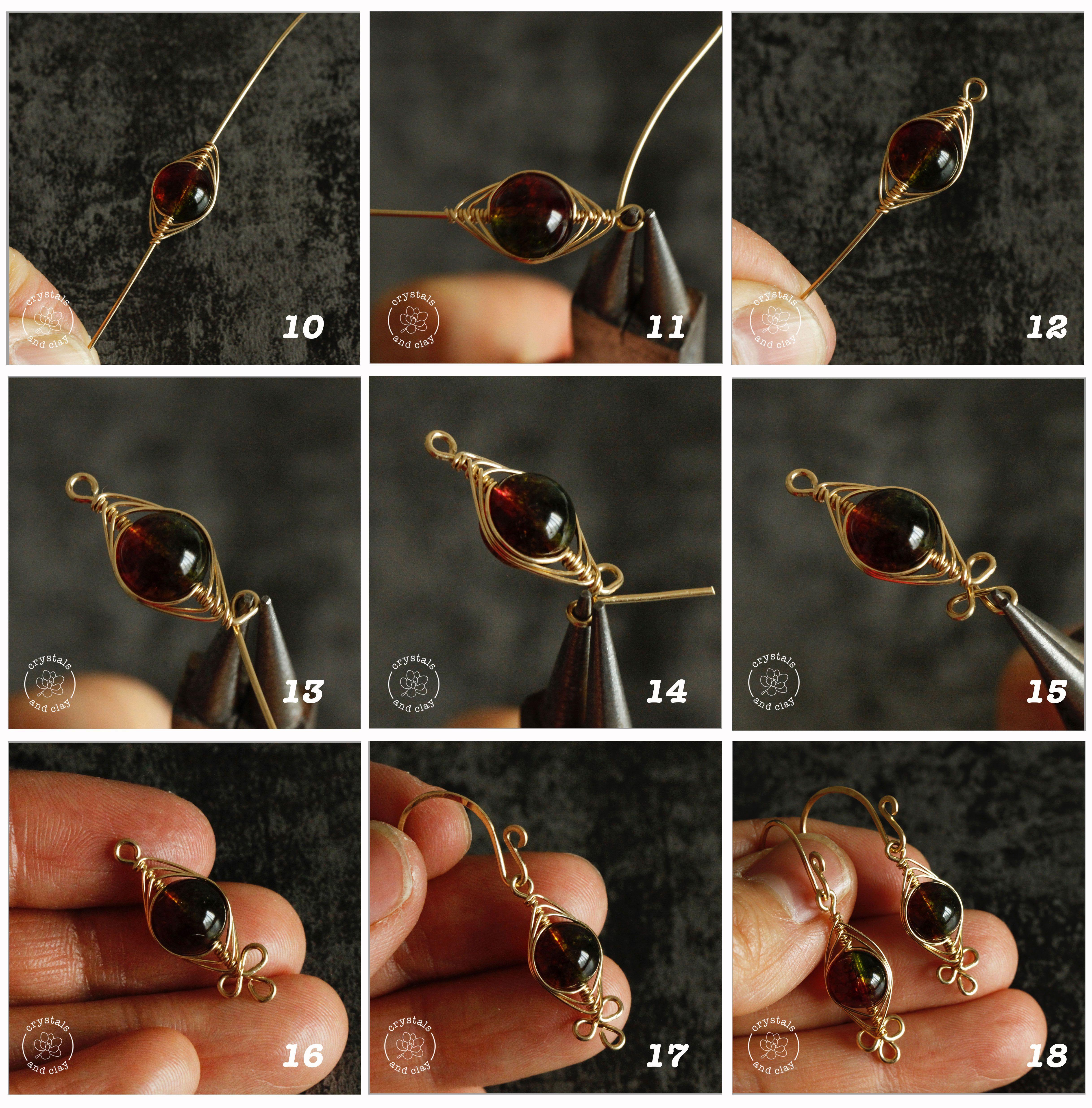 Photo of how to make herringbone weave wire wrapped earrings –  This jewelry making tutor…