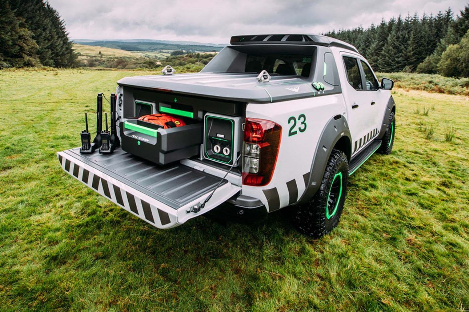 Nissan has debuted the navara enguard concept its vision for a future rescue truck