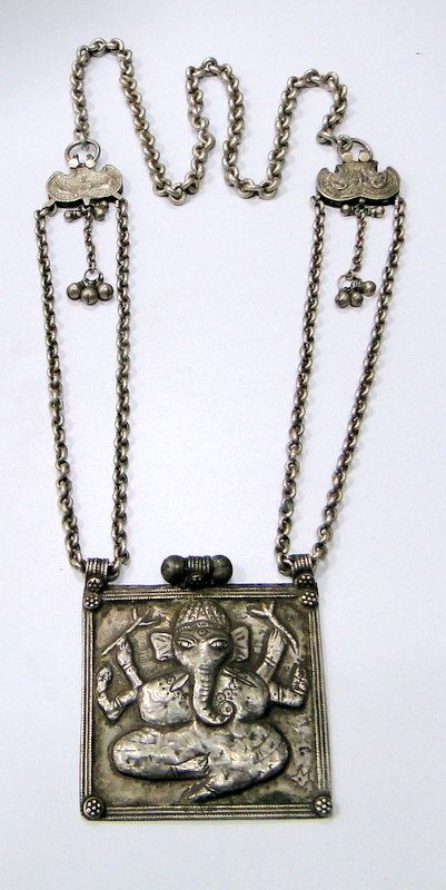Vintage antique ethnic tribal old silver necklace ganesha pendant vintage antique ethnic tribal old silver necklace ganesha pendant india aloadofball Gallery
