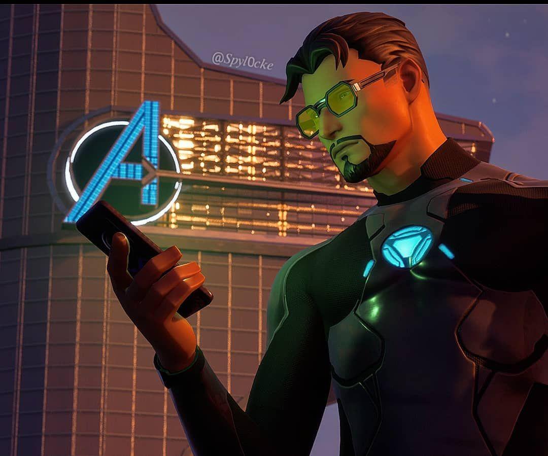 Tony Stark Qu Il Est Pas Mort Il Est Tombe Dans Fortnite Tony Stark Skin Images Iron Man