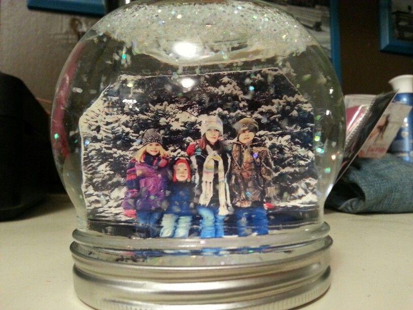 Homemade snow globe fun ideas pinterest for Easy homemade christmas snow globes