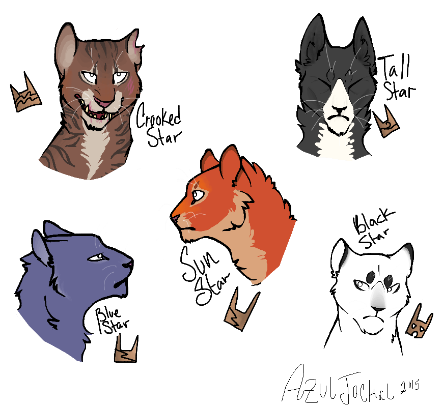 Warrior Cats Kit To Leader Bloodclan: Some Clan Leaders By AzulJackal.deviantart.com On