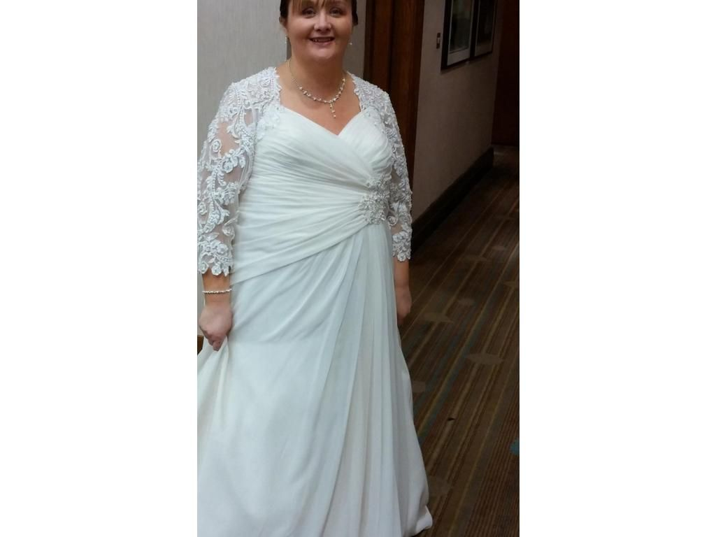 Long sleeve plus size wedding dresses. A-line bridal gowns for a ...