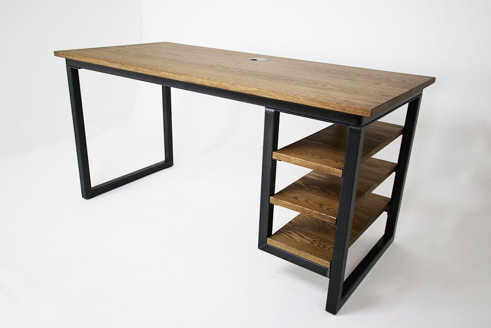 Vintage Industrial Office Desks Bespoke Uk Bespoke Desks Industrial Industrialofficedesksuk Office In 2020 Industrial Office Desk Industrial Office Office Desk