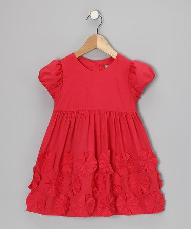Take a look at this Red Flower Dress - Infant & Toddler by Petit Confection on #zulily today!