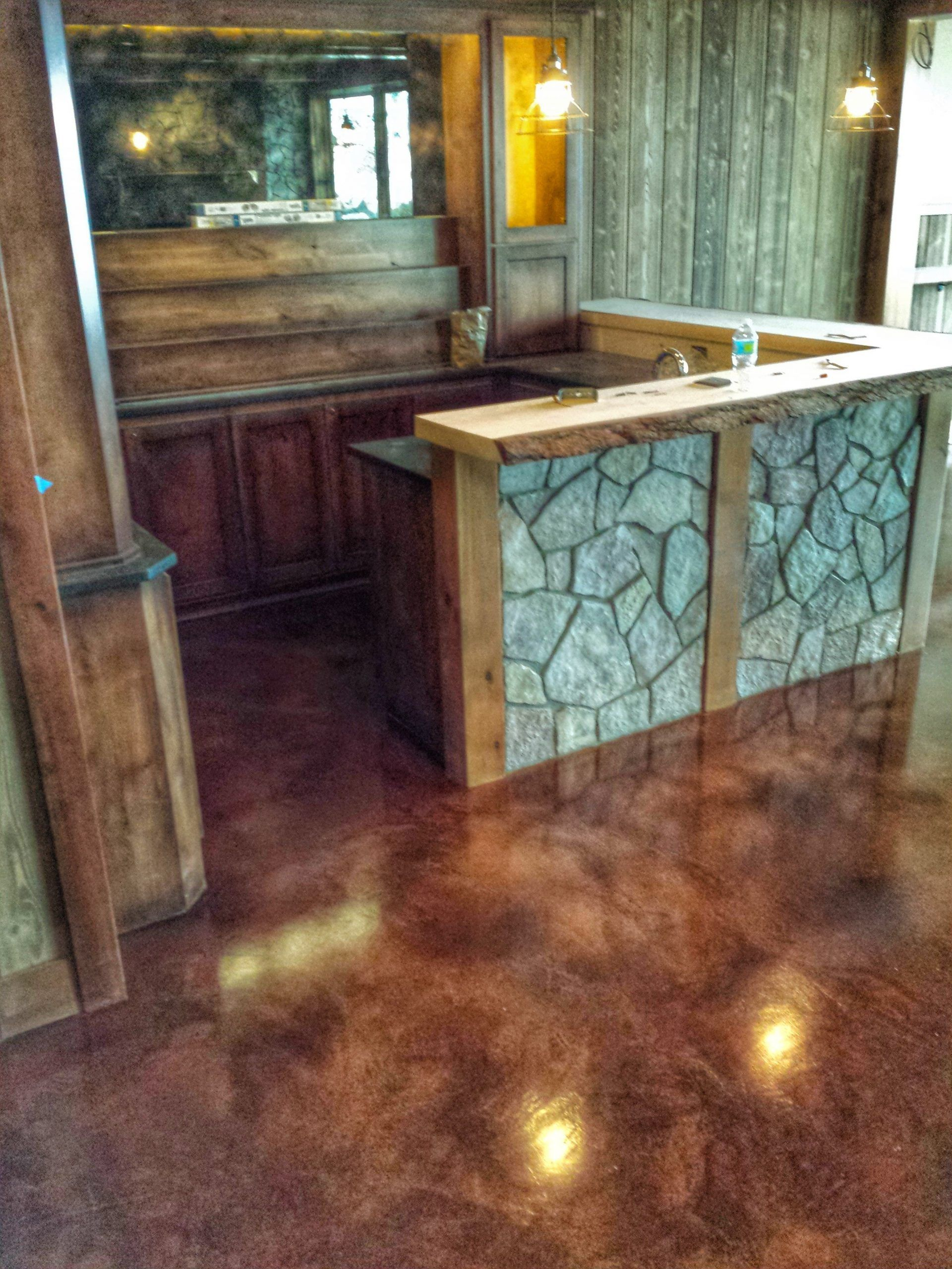 Stained Concrete Floor Microtopping Epoxy Floor Basement Floor Basement Conc Basement Conc Co In 2020 Concrete Stained Floors Stained Concrete Concrete Floors