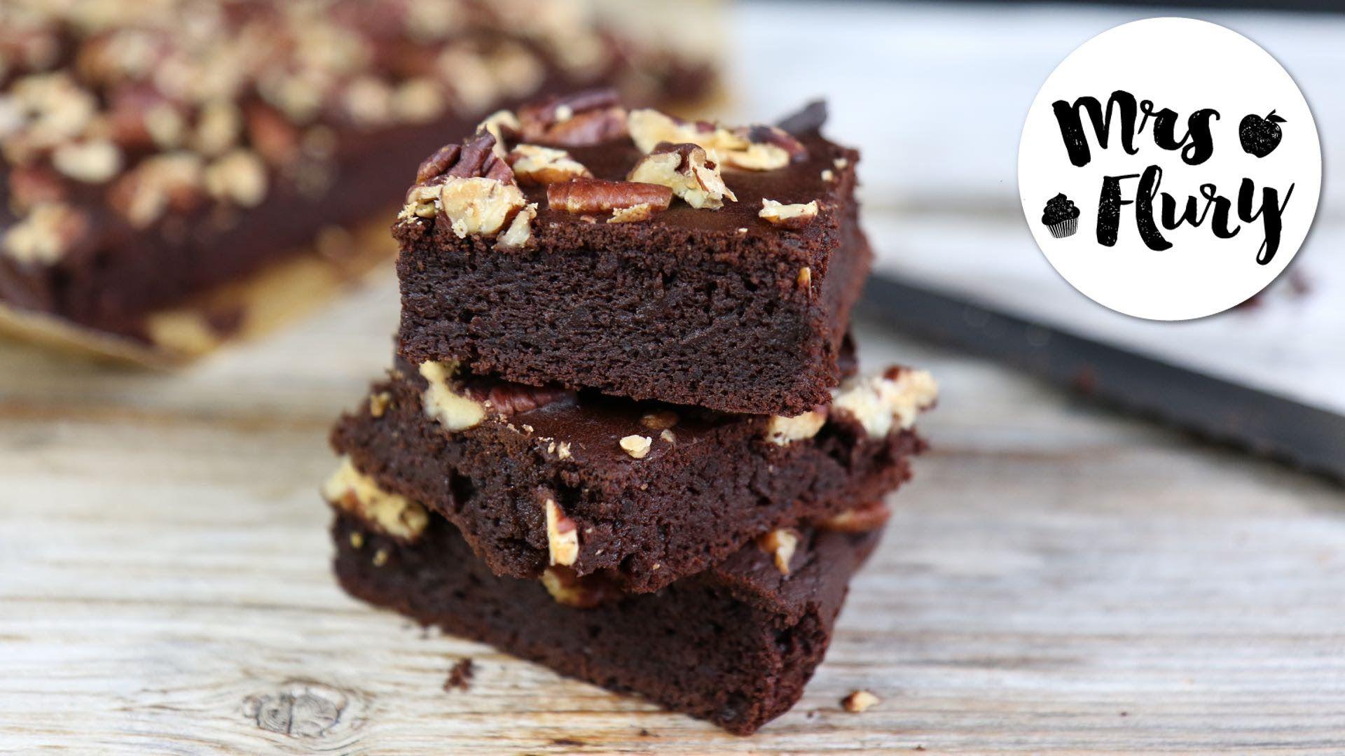 Gesunde Brownies Rezept ohne Zucker glutenfrei