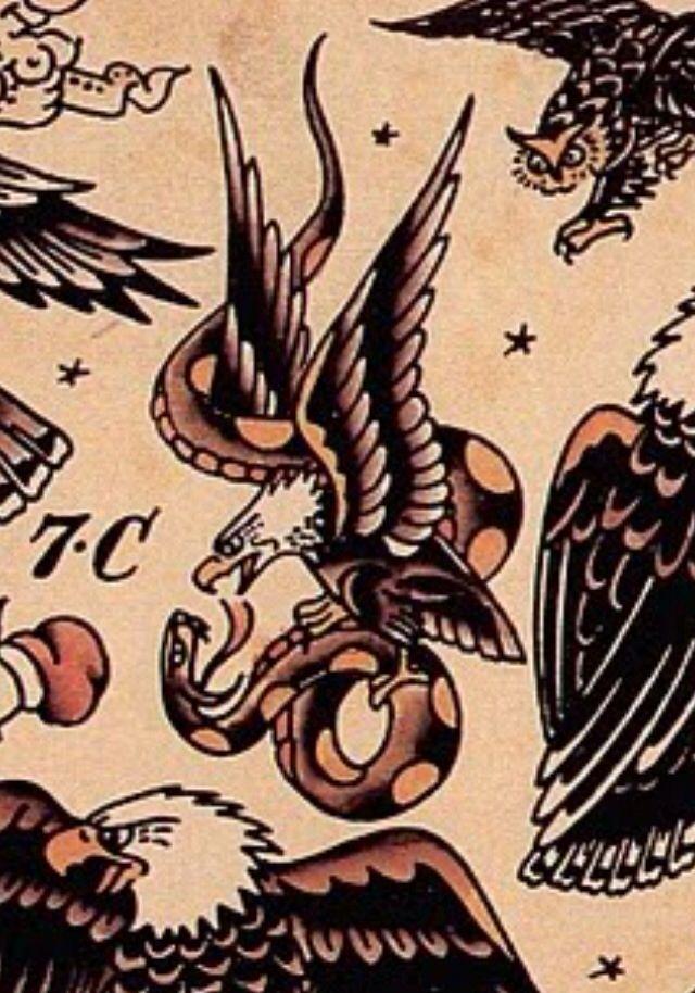 Tatuaje Americano Tradicional sailor jerry eagle | tattoos | pinterest | tatuajes, tatuajes