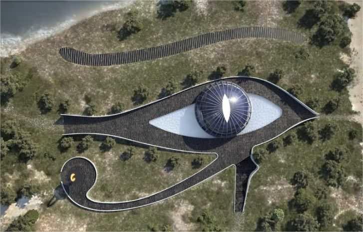 La Eco-Casa de Naomi Campbell, en Turquía con la forma del ojo de Horus