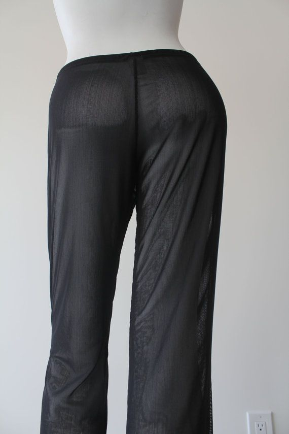 1d5d7fe6a5 Black Mesh Health Goth See-Through Swim Pants | Products | Black ...