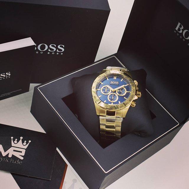 Hugo Boss 1513340 Myrich De Hugoboss Original Watch 1513340 Rolex Bosswatch Style Uhr Hbwatch Fashion New Mens Fashion Business Watch Gold Watch