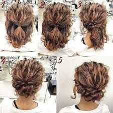 Risultati Immagini Per Wedding Hairstyles For Short Hair Half Up Half Down Simple Prom Hair Hair Styles Short Hair Updo