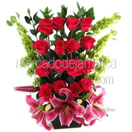 c919396949827 Arreglos Florales Rosas Rojas Jumbo Rosette 16