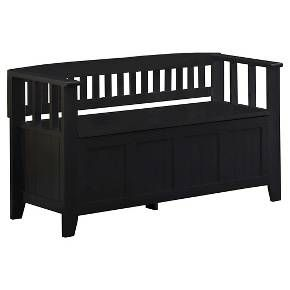 Normandy Solid Wood Entryway Storage Bench Wyndenhall Entryway Bench Storage Entryway Storage Simpli Home