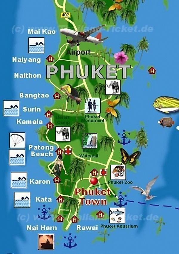 thailand karte phuket Phuket   330 PHUKET HOTELS ONLINE, Buchen Sie hier Ihr Phuket  thailand karte phuket