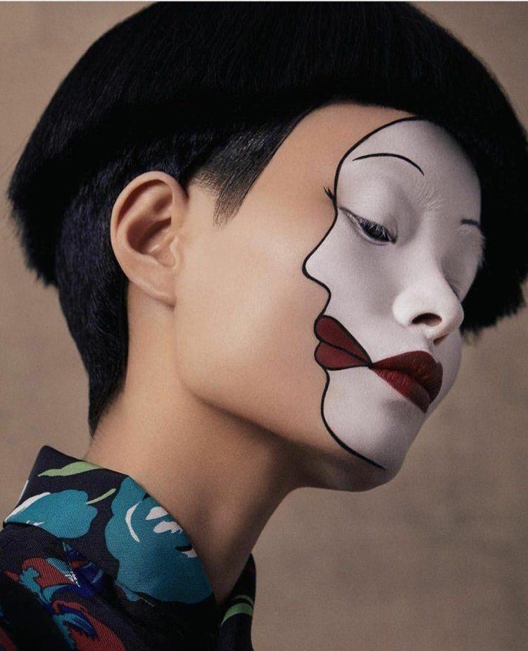 Pantomime schminken – Ideen für Make-up zu Halloween und Karneval