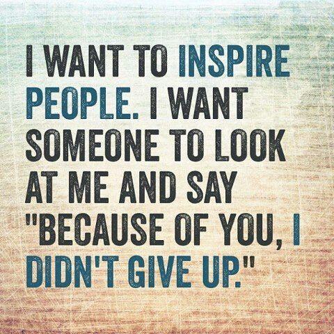 I wont give up.