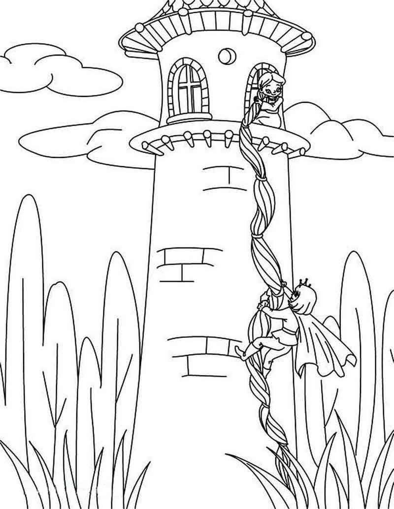 - Rapunzel Tower Coloring Page (mit Bildern) Ausmalbilder