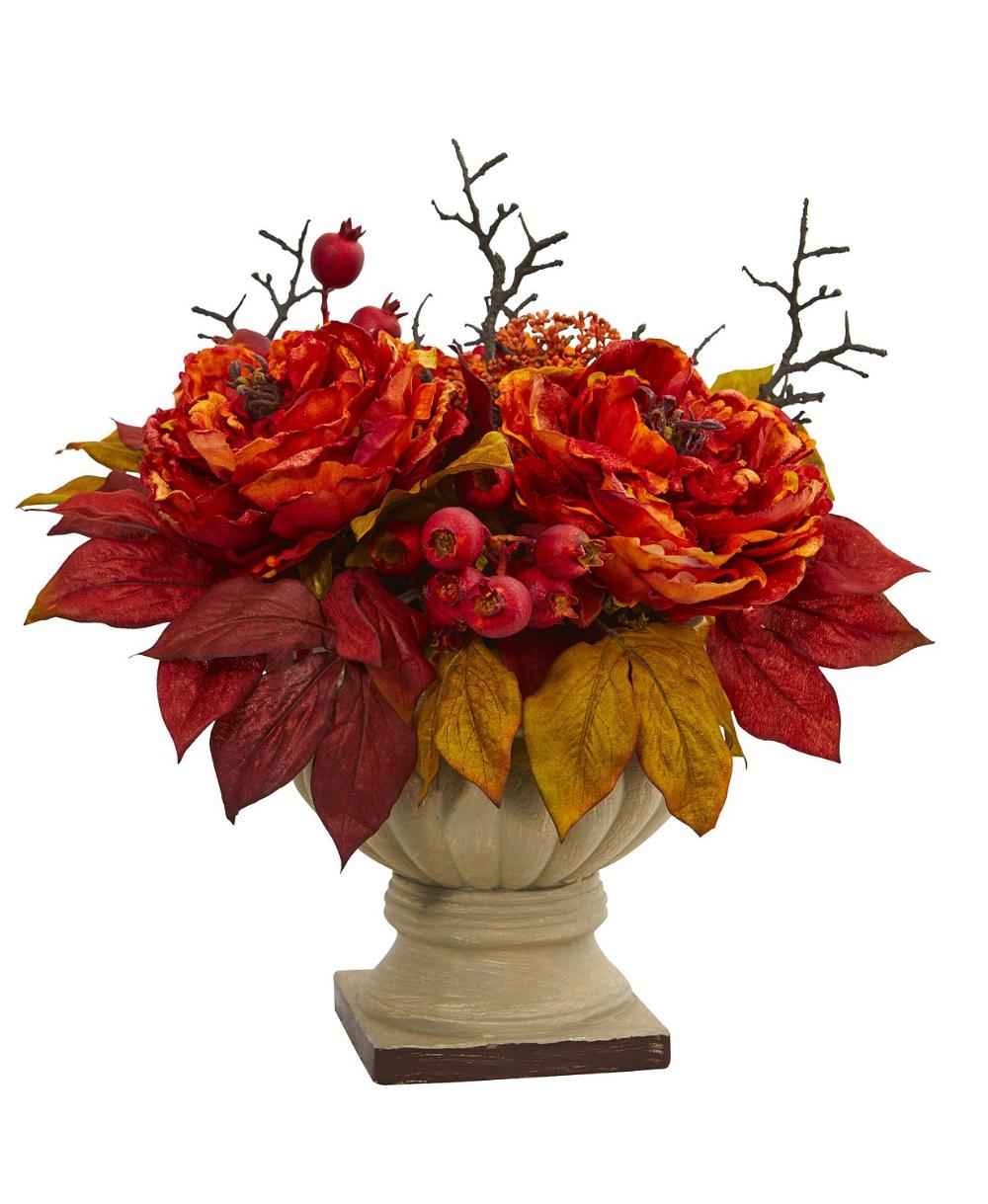 """15/"""" Artificial Croton Plant Silk Flower Floral Arrangements"""