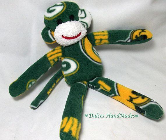 Rublix Toys Green Bay : Green bay packers monkey plush toy handmade stuffed animal