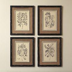 Botanic Wall Art (Set of 4)