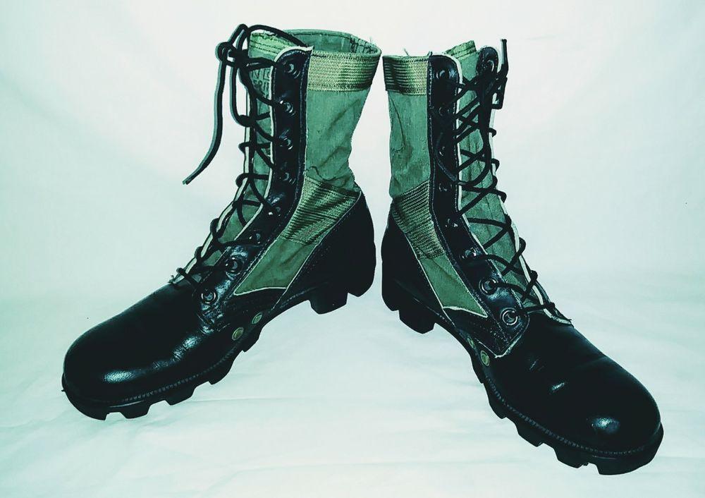 Vtg Men s 1960 US Army Vietnam War Genesco Jungle Boots MEN S-6 WOMENS-8 8dee3ebbc