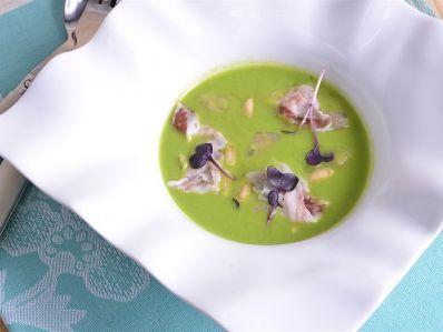 Receta   Berberechos con guisantes y jamón - canalcocina.es