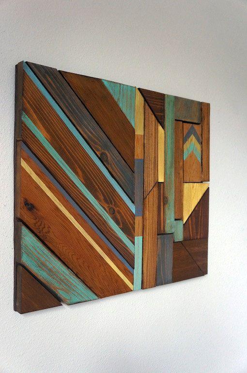 Arte de pared de madera moderna Decoración interior Pinterest - pared de madera