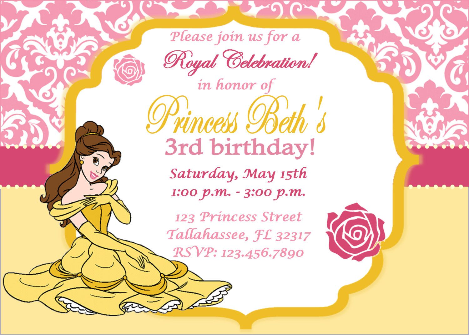 Princess Belle Beauty and the Beast Inspired by InviteMeToTheParty ...