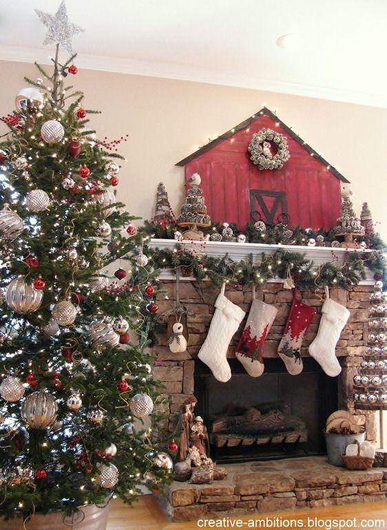 Christmas Barn Mantel Western Christmas Pinterest Weihnachten