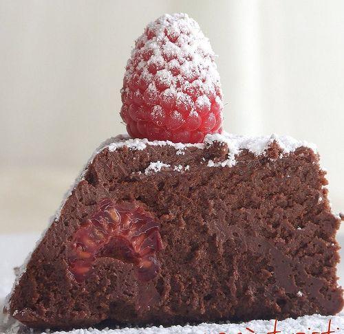 Marquise aux framboises et chocolat