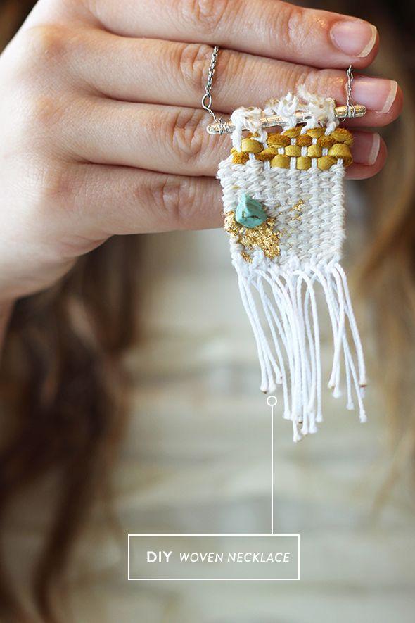 Diy woven necklace 4th grade art projects pinterest woven wall diy woven necklace convert to a pin perhaps solutioingenieria Gallery