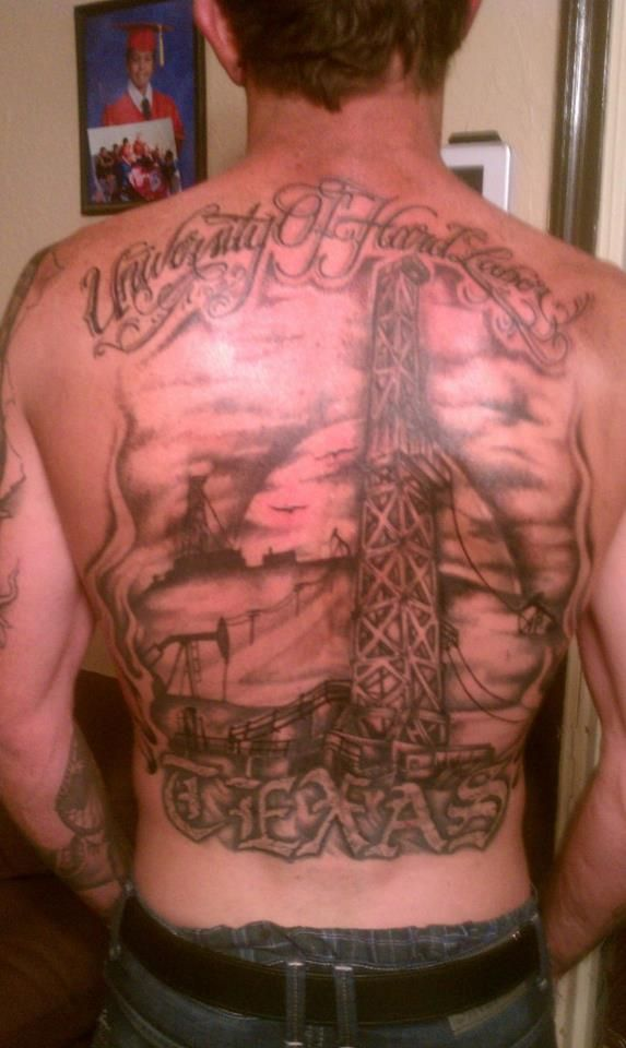 Rig tattoo | For my roughneck <3 | Tattoos, Cool tattoos, Oil rig