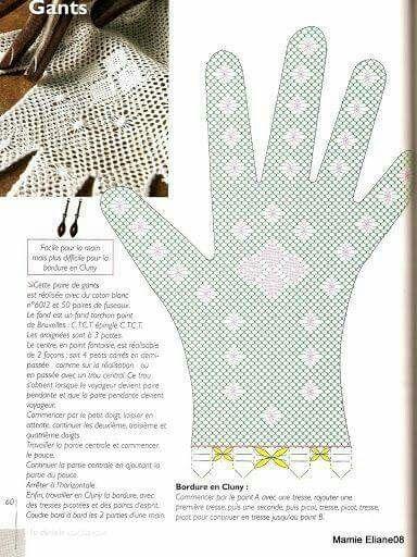Guante derecho | CSipke | Pinterest | Klöppeln, Handschuh und ...