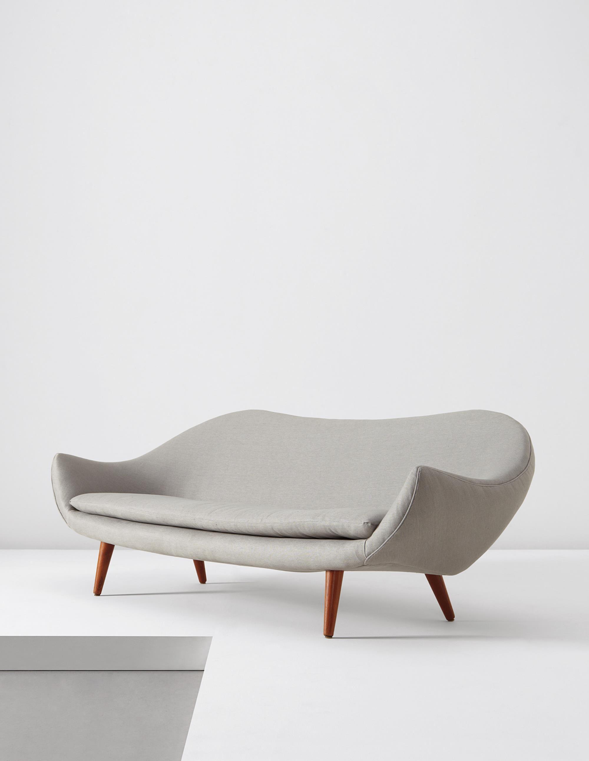 fredrik a kayser teak legged sofa for vatne møbler 1960s