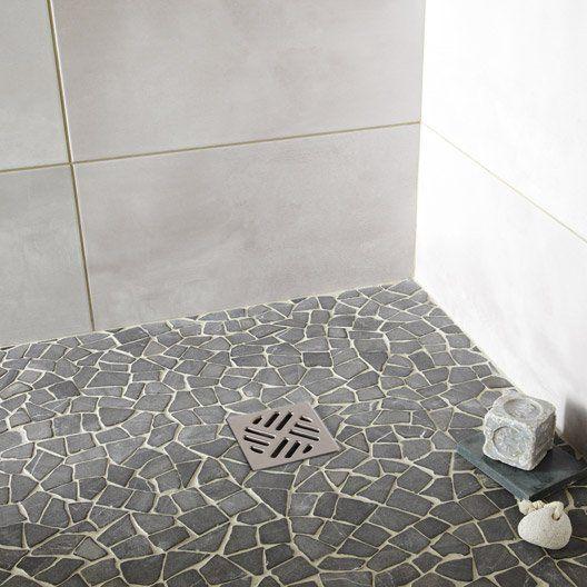 Mosaique Sol Et Mur Puzzle Noir Idee Salle De Bain Salle De Bain En Beton Salle De Bains Douche Italienne