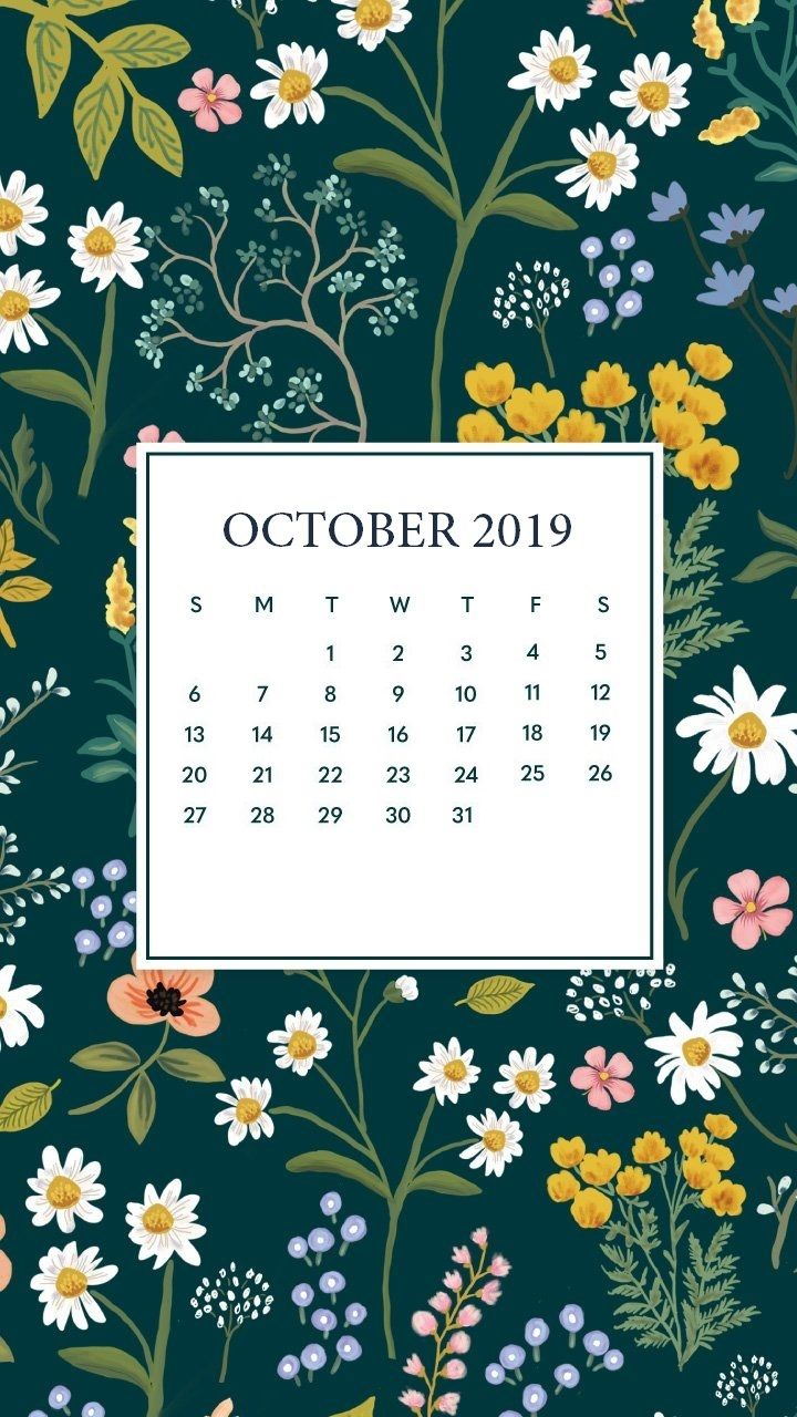 October 2019 Mobile Calendar Wallpaper #octoberwallpaper