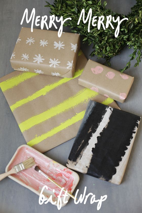 Painted Gift Wrap - a craft to bring the family together this holiday season. The kids love seeing their artwork under the tree and it's great for wrapping gifts for grandparents, teachers and friends.