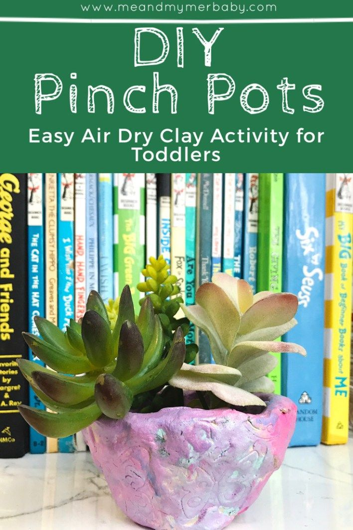 DIY Pinch Pot Easy Air Dry Clay Activity for Toddlers