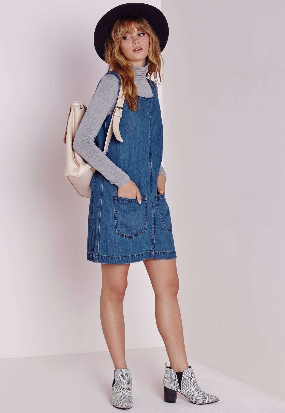 0ec0f95472d66 take it from summer to winter denim dress | style. | Denim pinafore ...