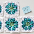 Cool flower granny squares!