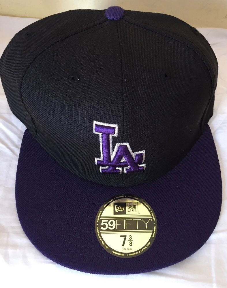 a9ed6233746f54 Los Angeles Dodgers Black/Purple Authentic New Era 59FIFTY Fitted Cap-5950  -73/8 #fashion #clothing #shoes #accessories #mensaccessories #hats (ebay  link)