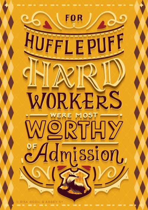 Hogwarts Houses Hand Lettered Posters Collaboration Piece By Risa Rodil With Images Harry Potter Hufflepuff Harry Potter Wallpaper Harry Potter Universal