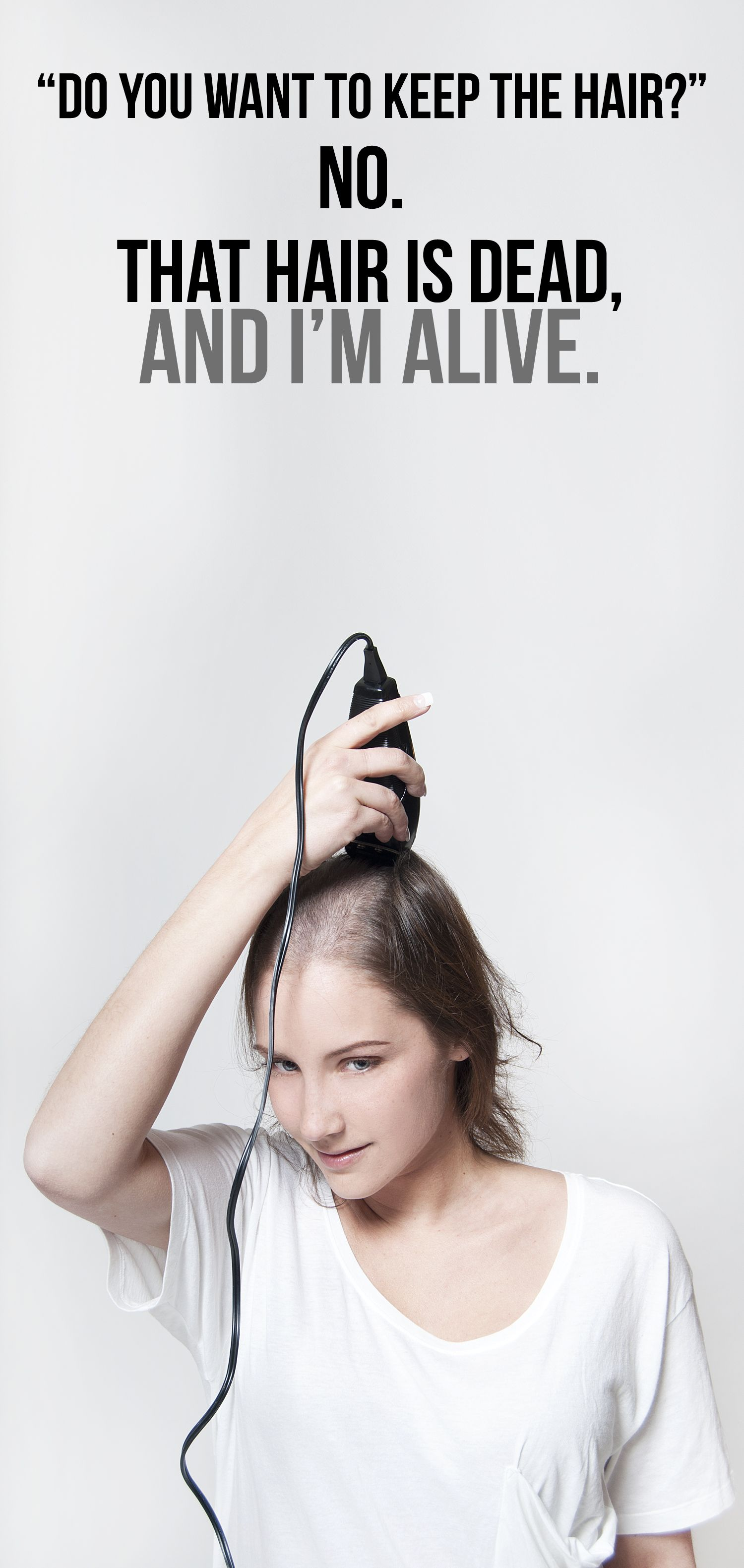 Sure it can be traumatic losing your hair  whether your a woman or