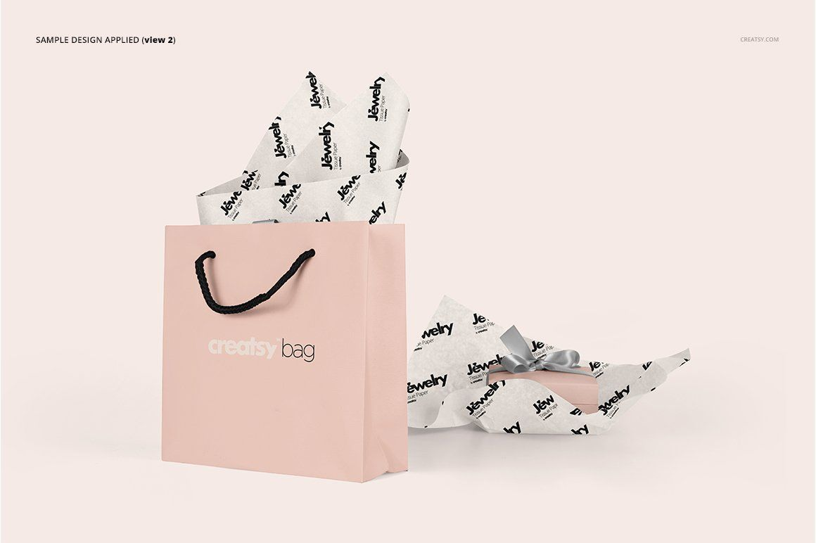 Download Jewelry Wrapping Tissue Paper Mockup Paper Mockup How To Age Paper Bag Mockup