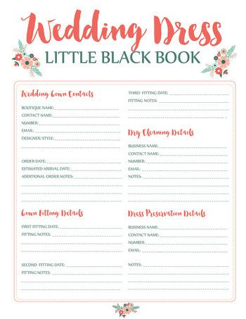 Wedding Dress Planning Timeline Printable Download Pinterest