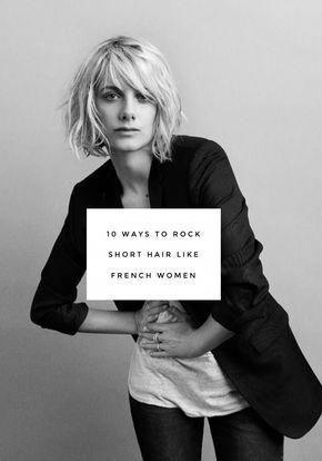10 ways to rock short hair like French women #shorthair #mittellangeröcke