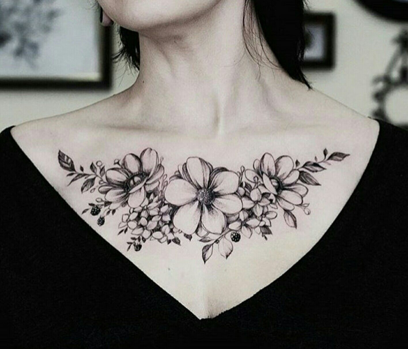 Pin by Nicole Russell on Tattoos Chest tattoos for women
