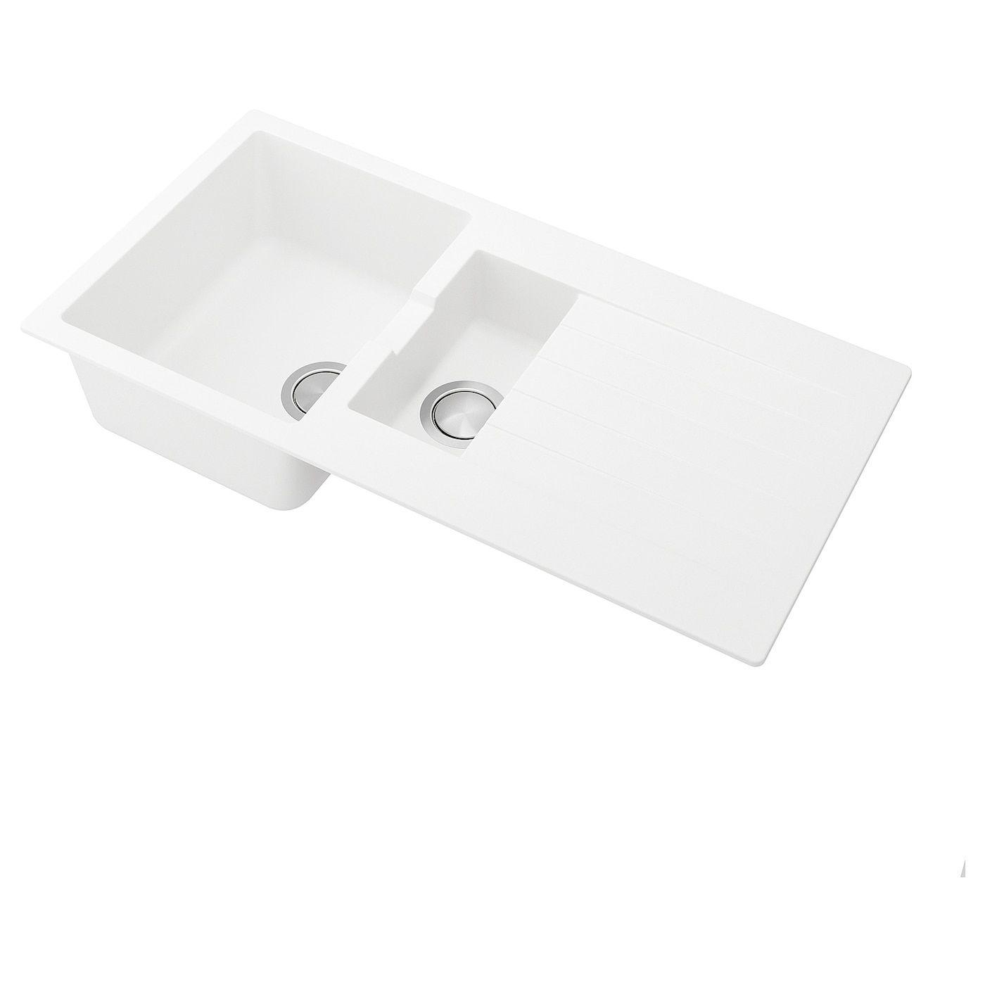 Hallviken Einbauspule 1 Becken Abtr Weiss Quarzkomposit Ikea Einbauspule Ikea Reinigungsmittel