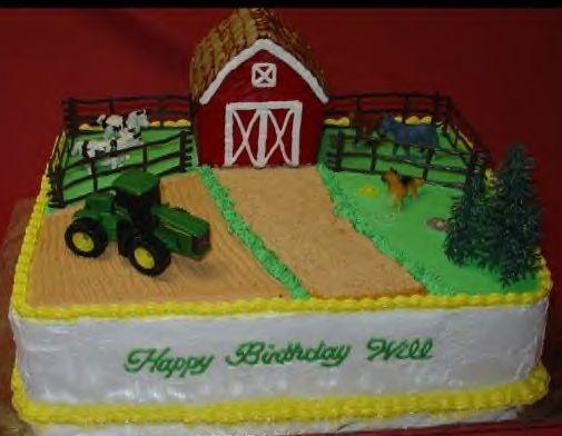 Pin By Tammy Howard On Baby Cakes Farm Birthday Cakes